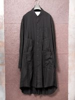 【nude:mm】Organic Cotton Cord stripe Garment Dyeing Oversized Long Shirt /BLACK<img class='new_mark_img2' src='https://img.shop-pro.jp/img/new/icons1.gif' style='border:none;display:inline;margin:0px;padding:0px;width:auto;' />