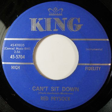 RED PRYSOCK ■ Can't Sit Down