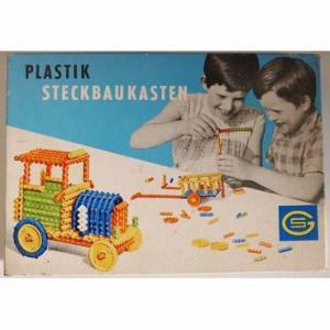 旧東ドイツ ブロックの玩具 「PLASTIK STECKBAUKASTEN」 Gordon社