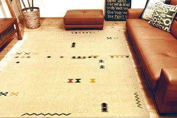 送料無料、柔らかい肌触りのシンプルでかわいいウィルトン織りお買い得なラグ・カーペット 160×230㎝幅