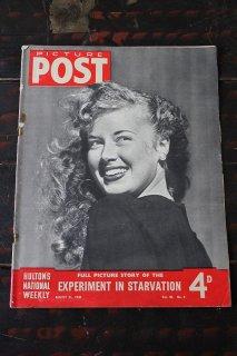 イギリス「PICTURE POST」1948年8月21日号 EXPERIMENT IN STARVATION