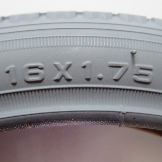 16x1.75 グレー タイヤだけ (1本)