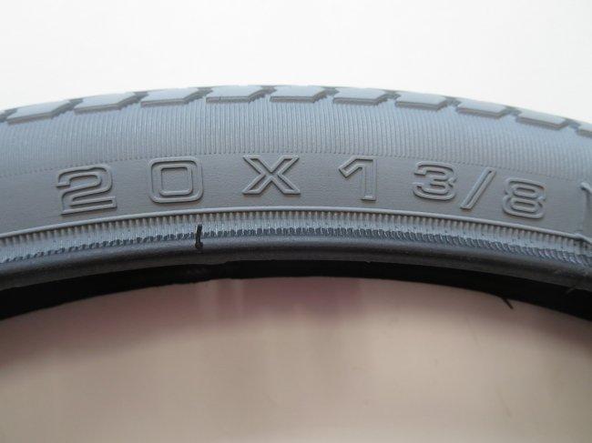 20×1 3/8 グレータイヤのみ(1本)車いすタイヤ