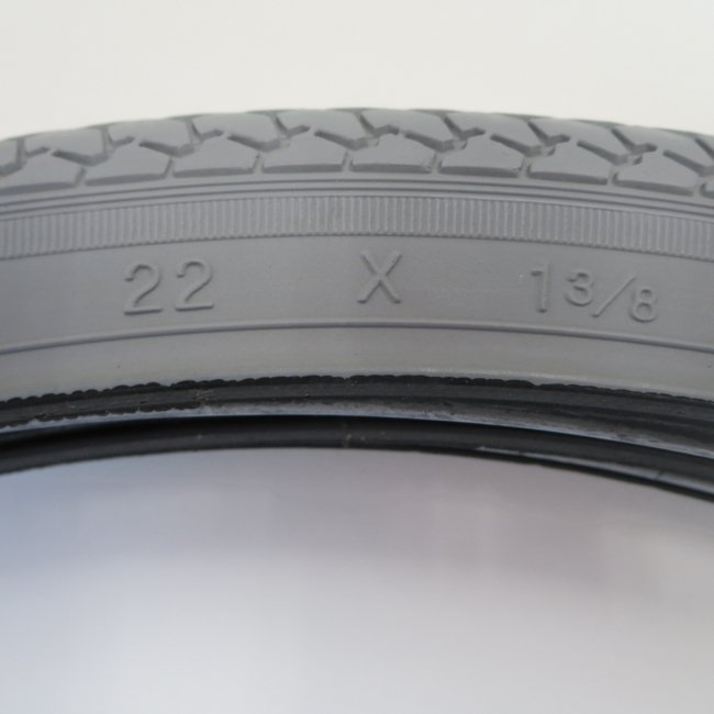 22×1 3/8 グレータイヤのみ(1本)車いすタイヤ
