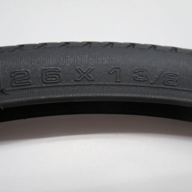 26×1 3/8 黒タイヤ・チューブセット(各1本)車いすタイヤ