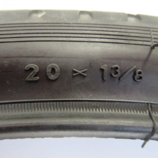 20x1 3/8 黒タイヤ・チューブ(各1本)