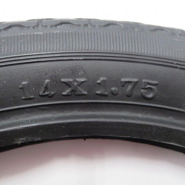 14×1.75 黒タイヤ・チューブセット(各1本)車いすタイヤ