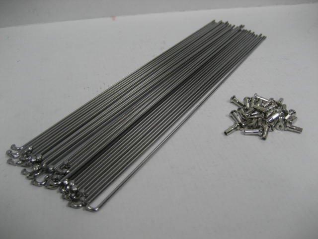 ステンスポーク 13x296 真鍮ニップル付  36本