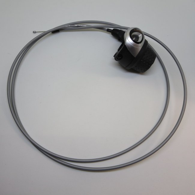 シマノ インター3グリップシフト 1700mm変速ワイヤー (シルバー)付