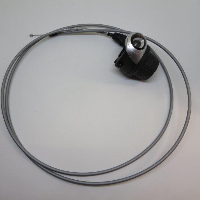シマノ インター3グリップシフト 1750mm変速ワイヤー (シルバー)付