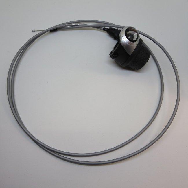シマノ インター3グリップシフト 1800mm変速ワイヤー (シルバー)付