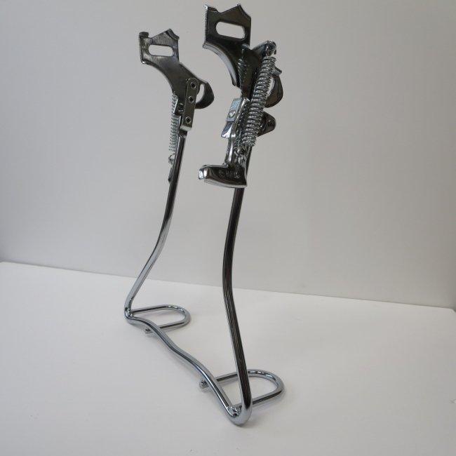 26インチ自転車用両立スタンド(ベロ付き)メッキ色