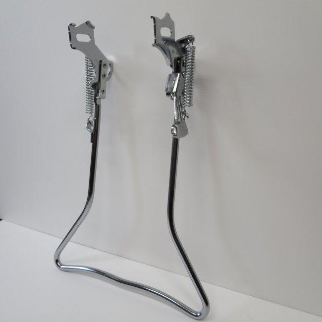 27インチ自転車用両立スタンド(メッキ色)
