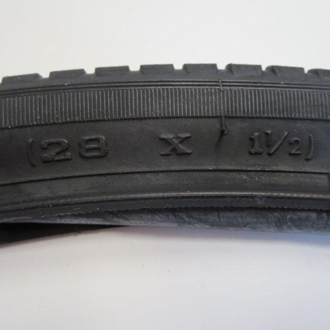 28×1 1/2黒セット(タイヤ1本+チューブ1本)