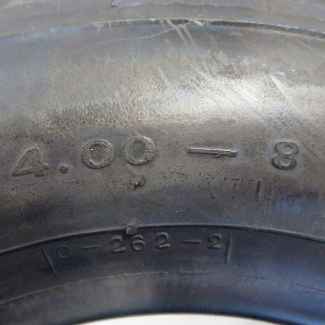 4.00-8 ラグタイプタイヤ 4PR