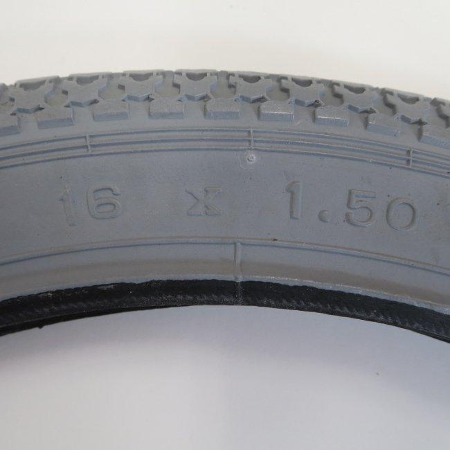 16×1.50グレータイヤ・チューブセット(各1本)車いすタイヤ
