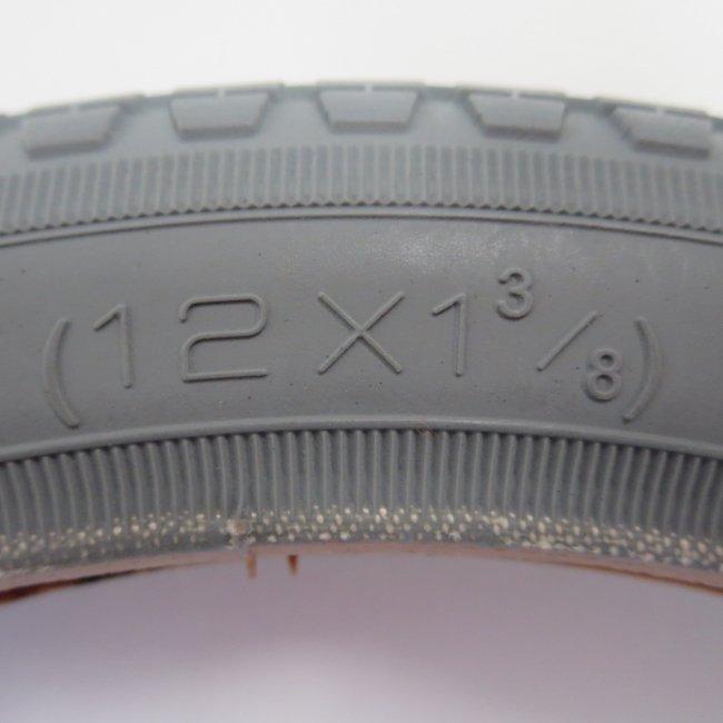 12×1 3/8 グレータイヤ・チューブセット(各1本)車いすタイヤ