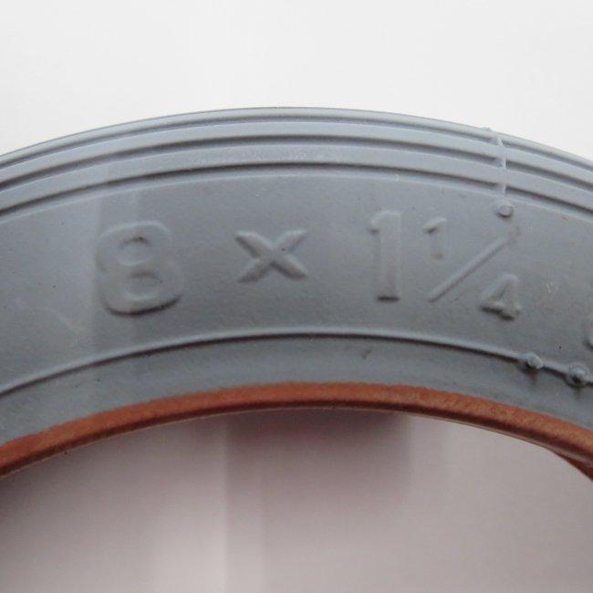 8x1 1/4 グレー タイヤ 1本