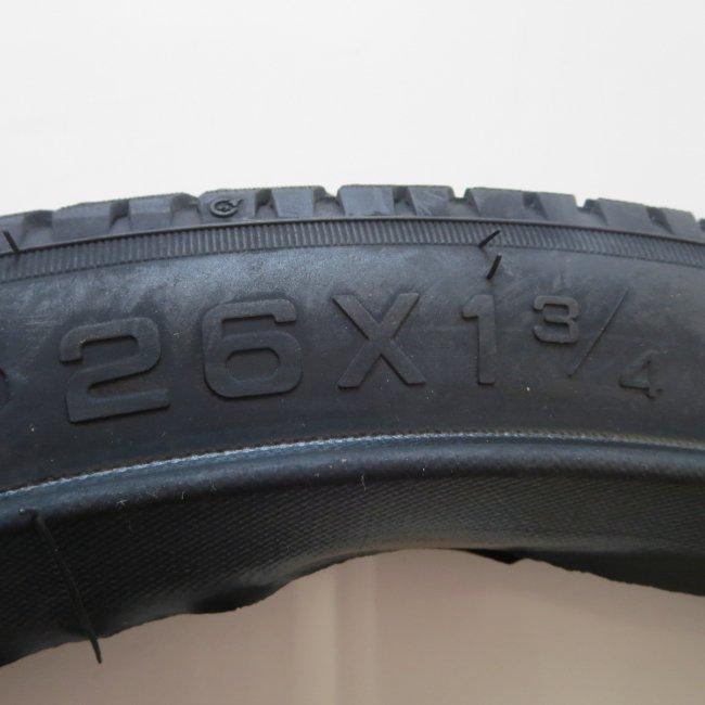 26x1 3/4 BEタイヤ チューブ(各1本)