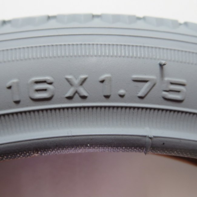 16×1.75 グレータイヤ・チューブセット(各1本)車いすタイヤ Main