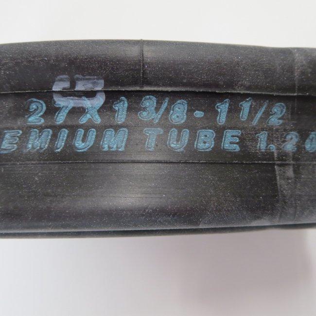 27x1 3/8チューブ(1本)1.2mm厚プレミアムチューブ