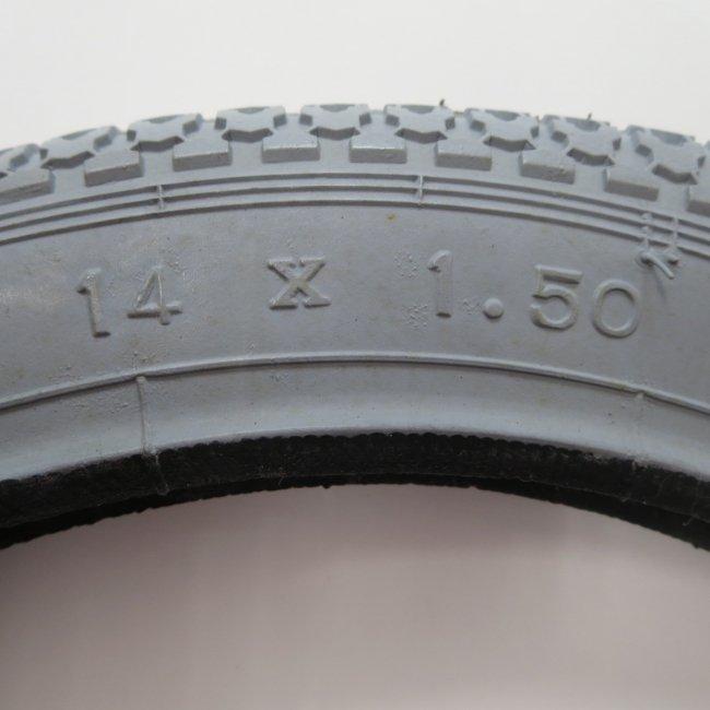 14×1.50 グレータイヤ・チューブセット(各1本)車いすタイヤ
