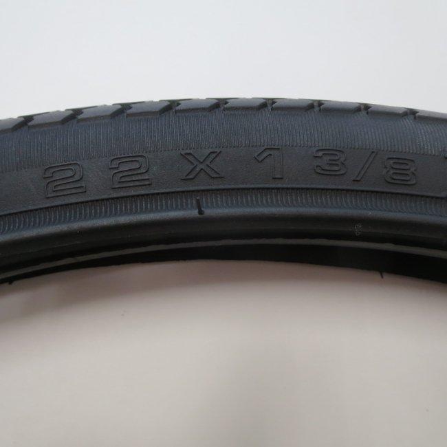 22×1 3/8タイヤ・チューブセット(各1本)黒色