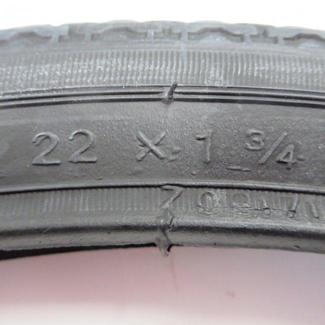 22x1 3/4タイヤ チューブ (各1本)黒