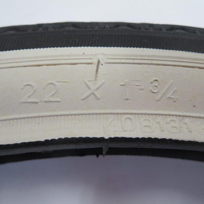22x1 3/4白サイドタイヤ チューブ(各1本)