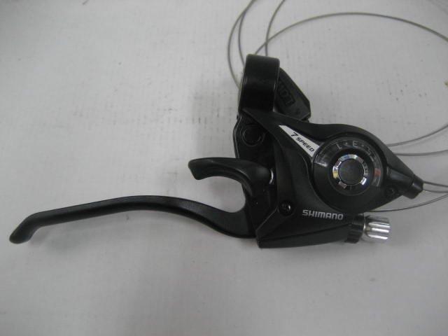 シマノ 変速シフトレバー 右7段用(ブレーキレバー付) 黒