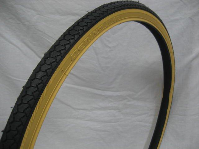 26x1 3/8 アメクロ色タイヤ1本+チューブ1本