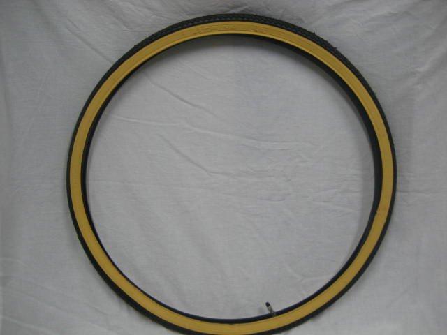 27x1 3/8 アメクロ色タイヤ1本+チューブ1本
