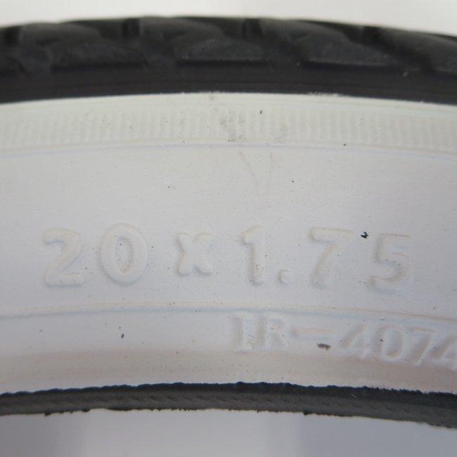 IRC(井上)20x1.75サイド白 自転車用タイヤ チューブ(各1本)