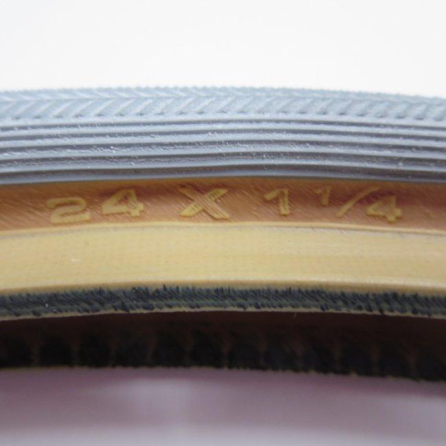 24x1 1/4 (32-547) グレー(サイドオープン) タイヤだけ