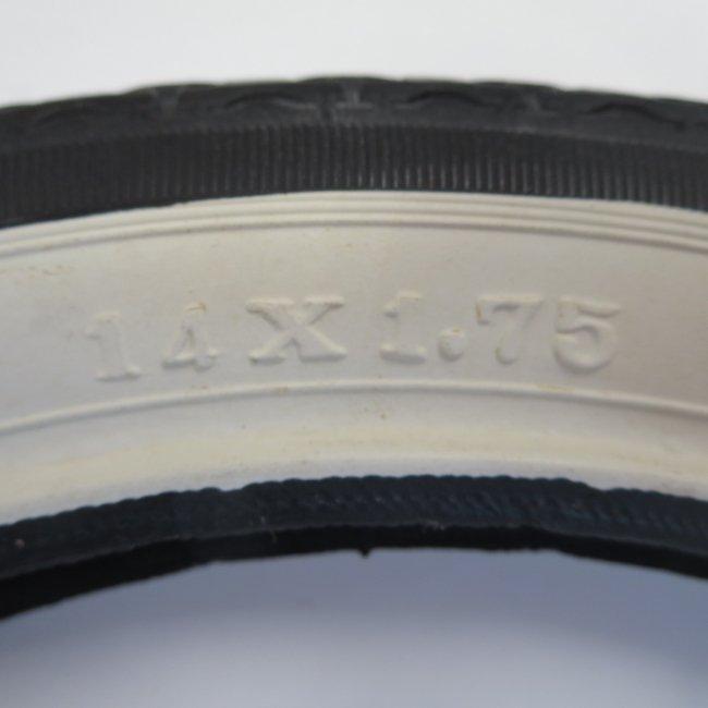 14x1.75サイド白 自転車用タイヤ チューブ(各1本)