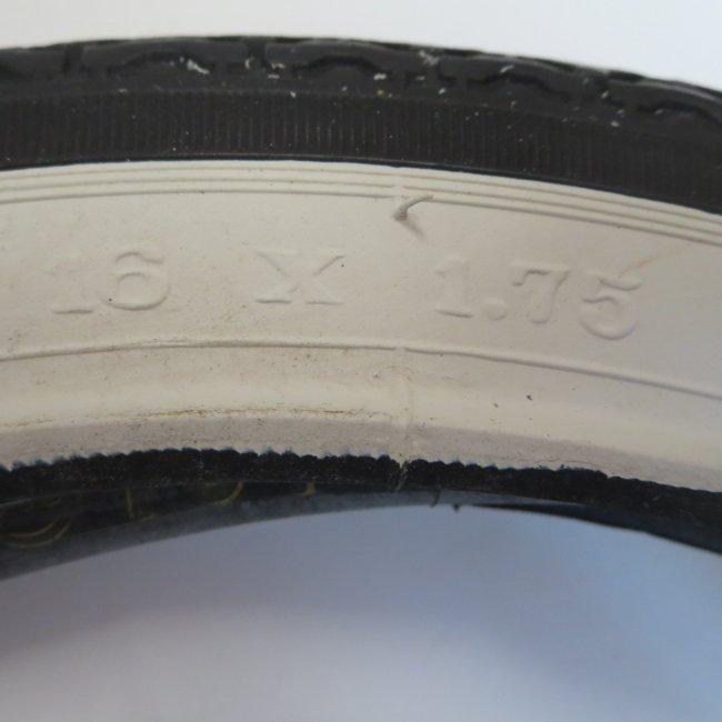 16 x 1.75  サイド白 自転車用タイヤ チューブ(各1本)