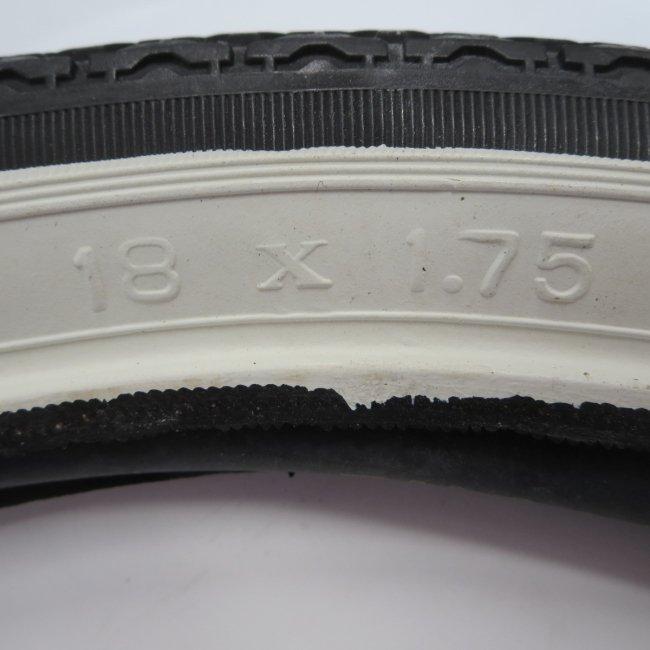 18 x 1.75  サイド白 自転車用タイヤ チューブ(各1本)
