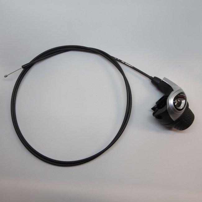 シマノ インター3グリップシフト 変速ワイヤー (黒)付