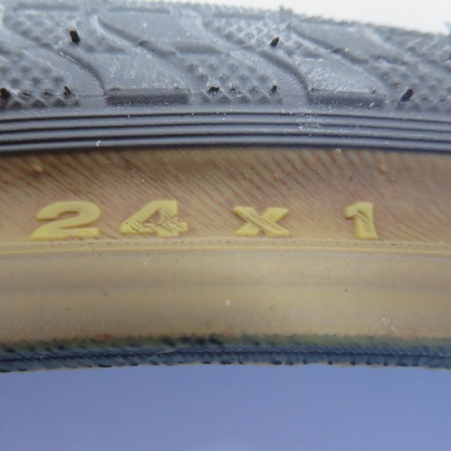 24x1 グレーオープン タイヤ (1本) 25-520