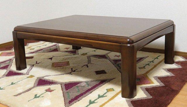 送料無料 処分特価 セン材仕様 家具調こたつ 暖卓 長方形 105X80
