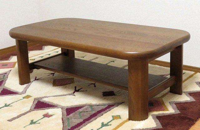 送料無料 処分特価 ナラ無垢 幅ハギ材仕様 重厚 センターテーブル 115x65cm