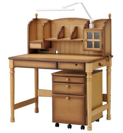ヒカリ学習机 SDW-リトルガールⅤ 専用チェア付 3点セット アンティーク色タイプ