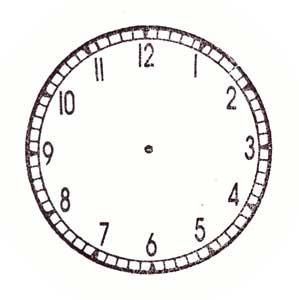 時計スタンプ(1-12の数字あり ... : 時計 勉強用 : すべての講義