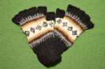 指なしアルパカ手袋 アルパカ100% メンズフリーサイズ<黒系>
