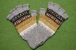 指なしアルパカ手袋 アルパカ80%アクリル20% メンズフリーサイズ<グレー系>