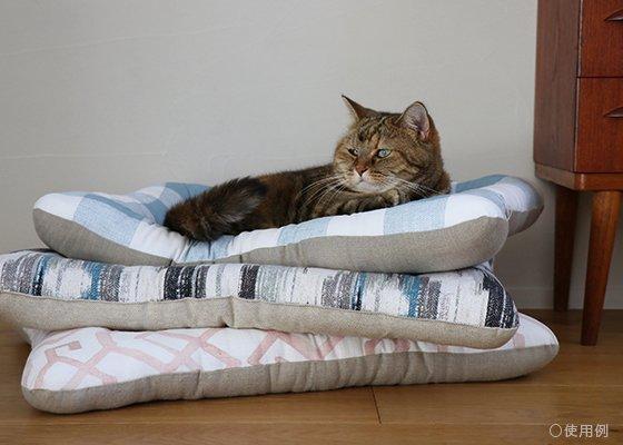 【受注製作】猫用ベッド/USコットン キャンバスブラッシュ
