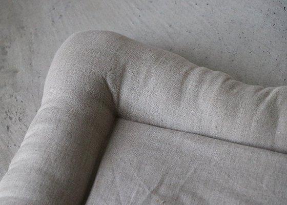【受注製作】猫用ベッド/USコットン グレー&ホワイトチェック