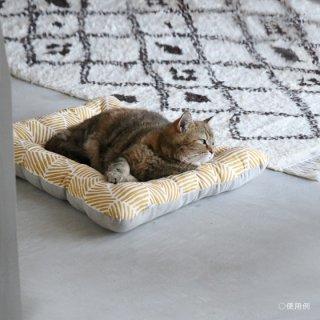 【受注製作】猫用ベッド/USコットン サマーランド<イエロー>