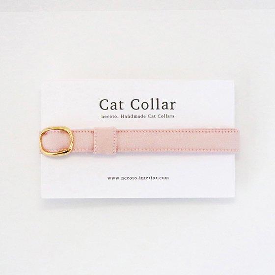 猫の首輪/やわらかサテン【パウダーピンク】