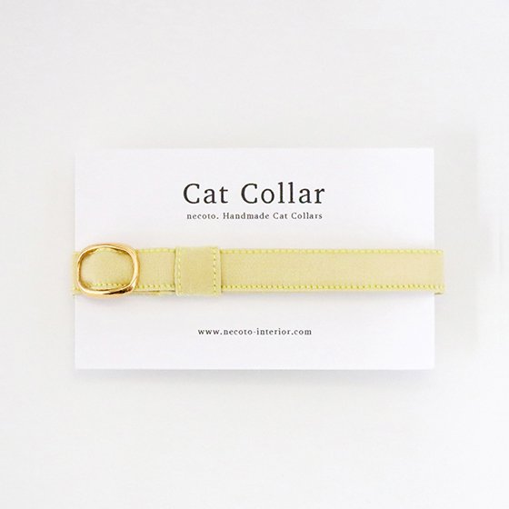 猫の首輪/やわらかサテン【ジャスミンイエロー】